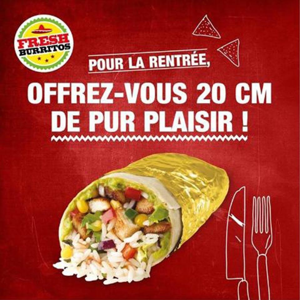 publicité de rentrée fresh burritos
